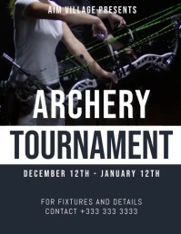 archery Flyer (US Letter) template
