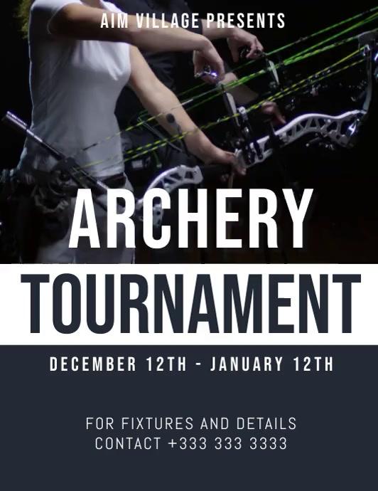 archery 传单(美国信函) template
