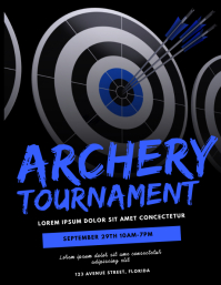 Archery Tournament Flyer Design Template