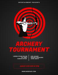 Archery Tournament Flyer Design Template