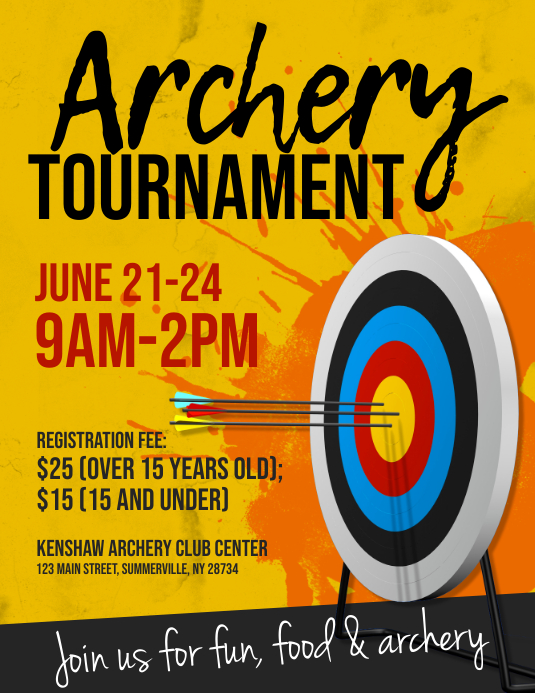 Archery Tournament Flyer