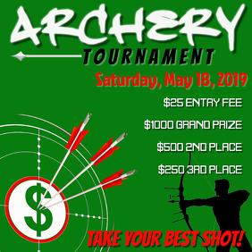 Archery Tournament Social Media Post
