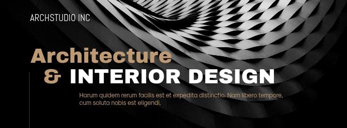 Architecture Design Flyer Facebook 封面图片 template