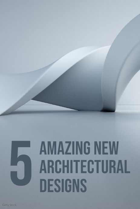 architecture pinterest graphic template