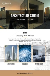 Architecture Studio Poster template