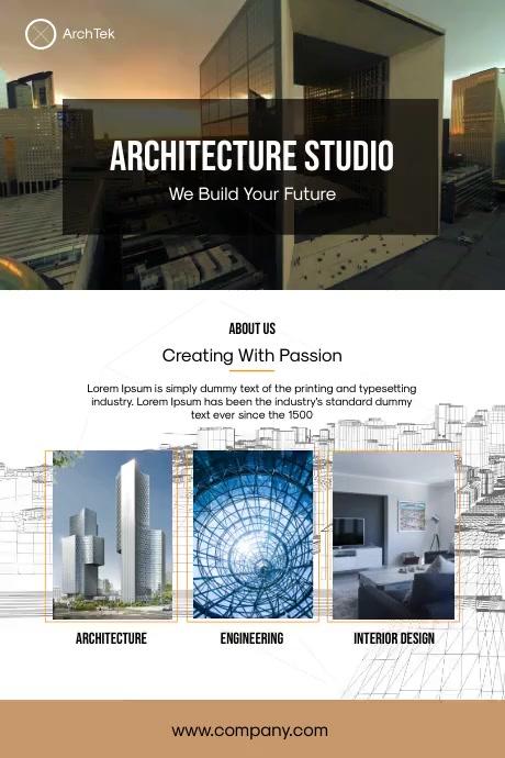 Architecture Studio Poster Plakat template
