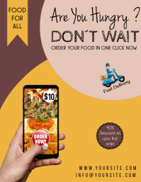 Are you hungry restaurant delivery flyer food