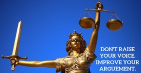 ARGUEMENT FOR JUSTICE QUOTE TEMPLATE Iklan Facebook