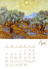 Aril Van Gogh Calendar