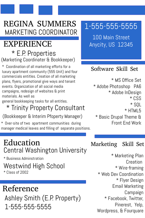 marketing coordinator resume template postermywall