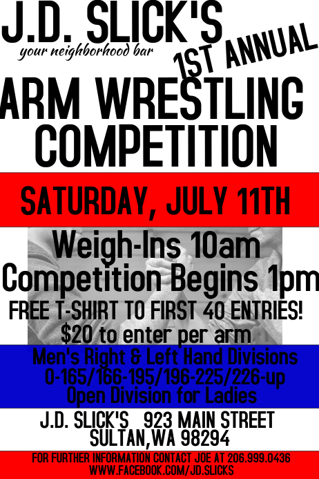Arm Wrestling Competition Template Postermywall