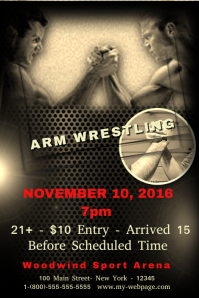 free wrestling posters custom templates postermywall