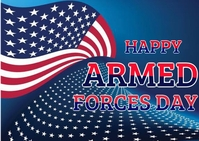 Armed force day Postal template