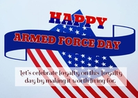 Armed force day ไปรษณียบัตร template
