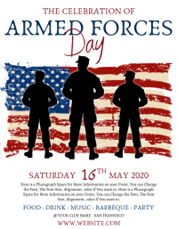Armed Forces Day Celebration Event Template