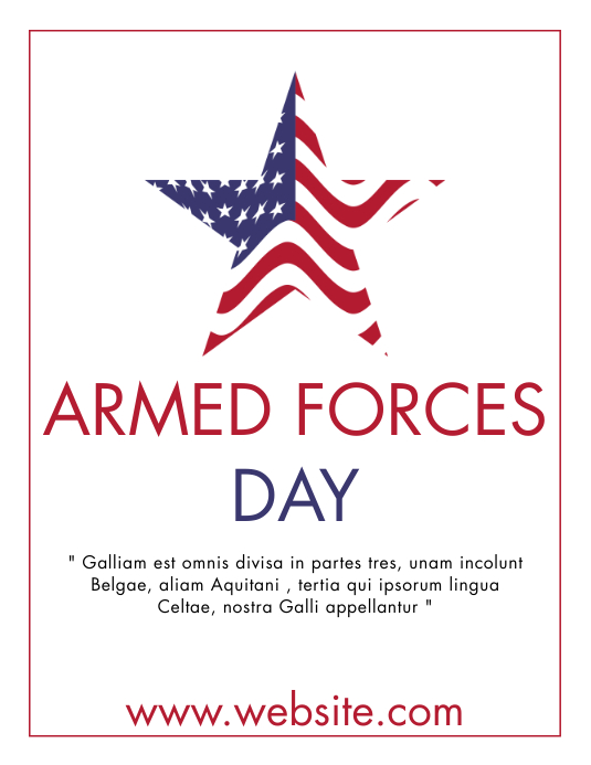 armed forces day event flyer design template