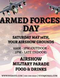 Armed Forces Day Event Flyer Template