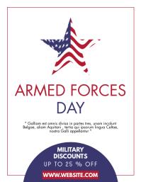 armed forces day minimal sales flyer design t