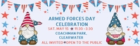 Armed Forces Day Patriotic Celebration Invita E-Mail-Überschrift template