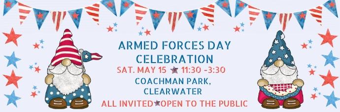 Armed Forces Day Patriotic Celebration Invita 电子邮件标题 template