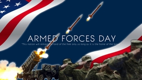 Armed Forces Day Poster Template Facebook Cover Video (16:9)