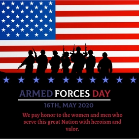 armed forces day poster template Iphosti le-Instagram