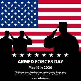 armed forces instagram post design template