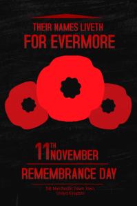 Armistice Day Poster Template