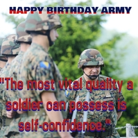 Army birthday Portada de Álbum template