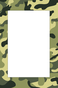 Army Fatigue Party Prop Frame