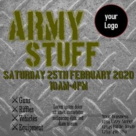 Army stuff equipment sale insta ad post template