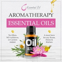 Aromatherapy Essential Oils Ad Pos Instagram template