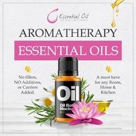 Aromatherapy Essential Oils Ad Publicación de Instagram template