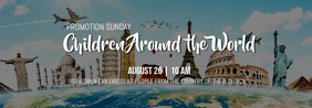 Around the World แบนเนอร์ Tumblr template