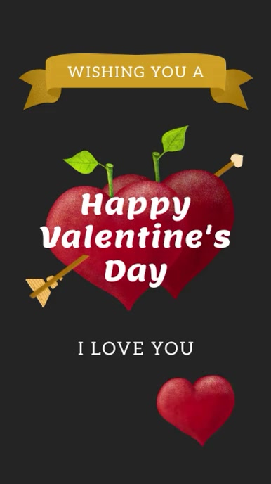 Happy Valentine's Day Instagram story. template