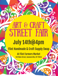 Art & Craft Street Fair Flyer template