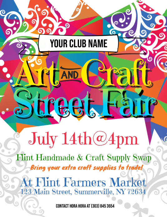 Art & Craft Street Fair Flyer