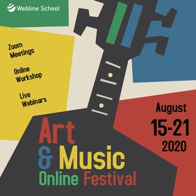 Art & music online festival instagram post