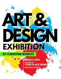 Art & Design Exhibition Flyer