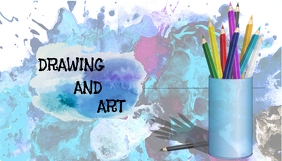 Art blog header Blogkop template