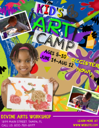 Art Camp Flyer (US-Letter) template