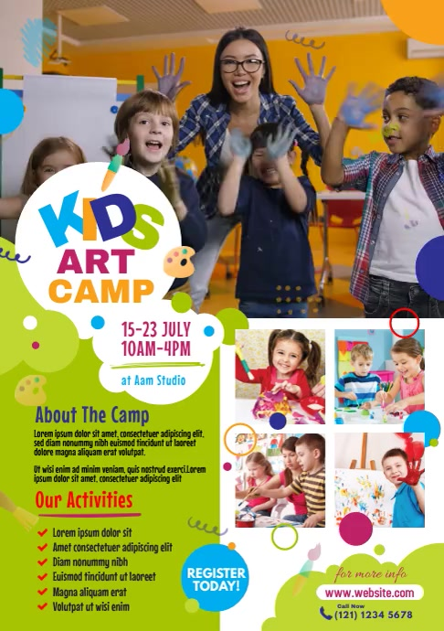 Art Camp A4 template