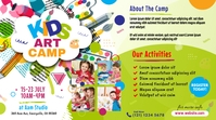 Art Camp Event Ad Post di Twitter template