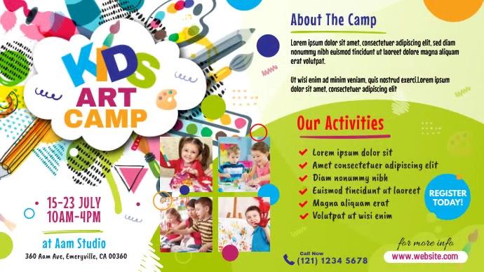 Art Camp Event Ad Twitter-bericht template