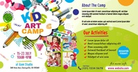 Art Camp Event Ad Facebook 共享图片 template