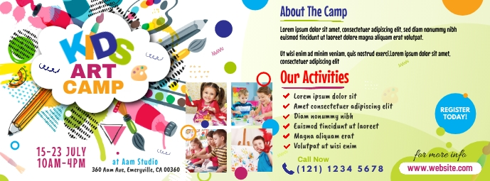 Art Camp Event Facebook Cover Photo template