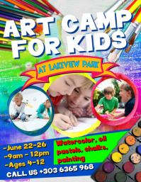 Art Camp For Kids Flyer