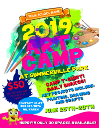 Art Camp Flyer Template