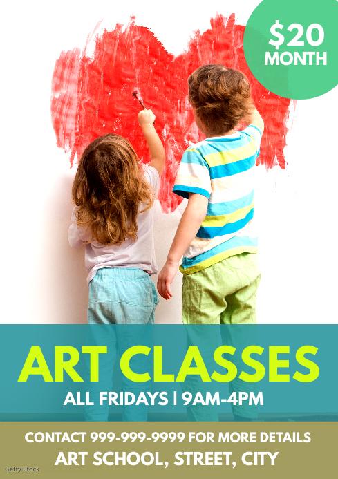 Art class flyer A4 template