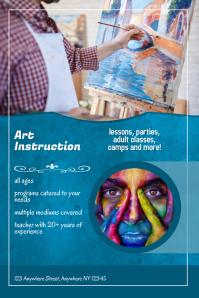 Art Class Instruction Flyer Template